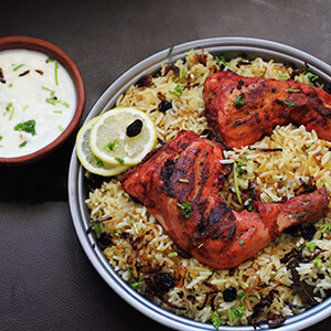 Order chicken tandoori biryani online home delivery in Thane, Mumbai