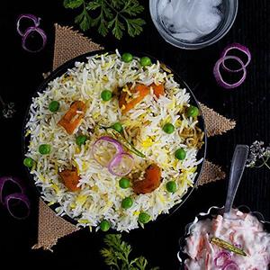 Order veg dum biryani online home delivery in Thane, Mumbai